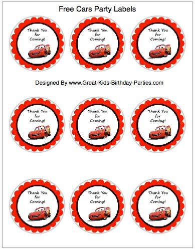 FREE Printable Disney Cars Thank-You Tags for party favors at - car for sale sign template free