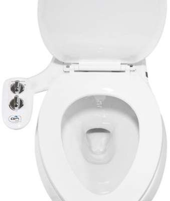 Aim To Wash Bidet Attachment With Toilet Night Light In White