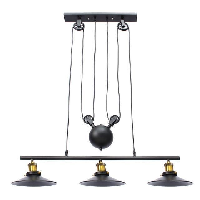 Industrial Lamp Fixture Vintage Hanging Retractable Pulley Pendant Light Holder Fit For E27 Bulb Ac110 240v Pendant Lights In 2019 Pulley Pendant Light Pe