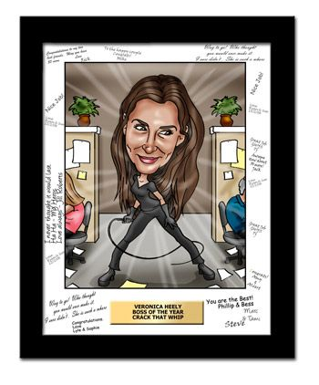 Boss And Boss S Day Gifts A Custom Caricature Bosses