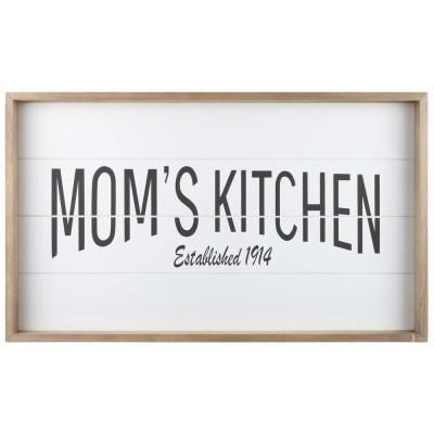 Urban Trends Collection Utc17107 Printed Mom S Kitchen Wood