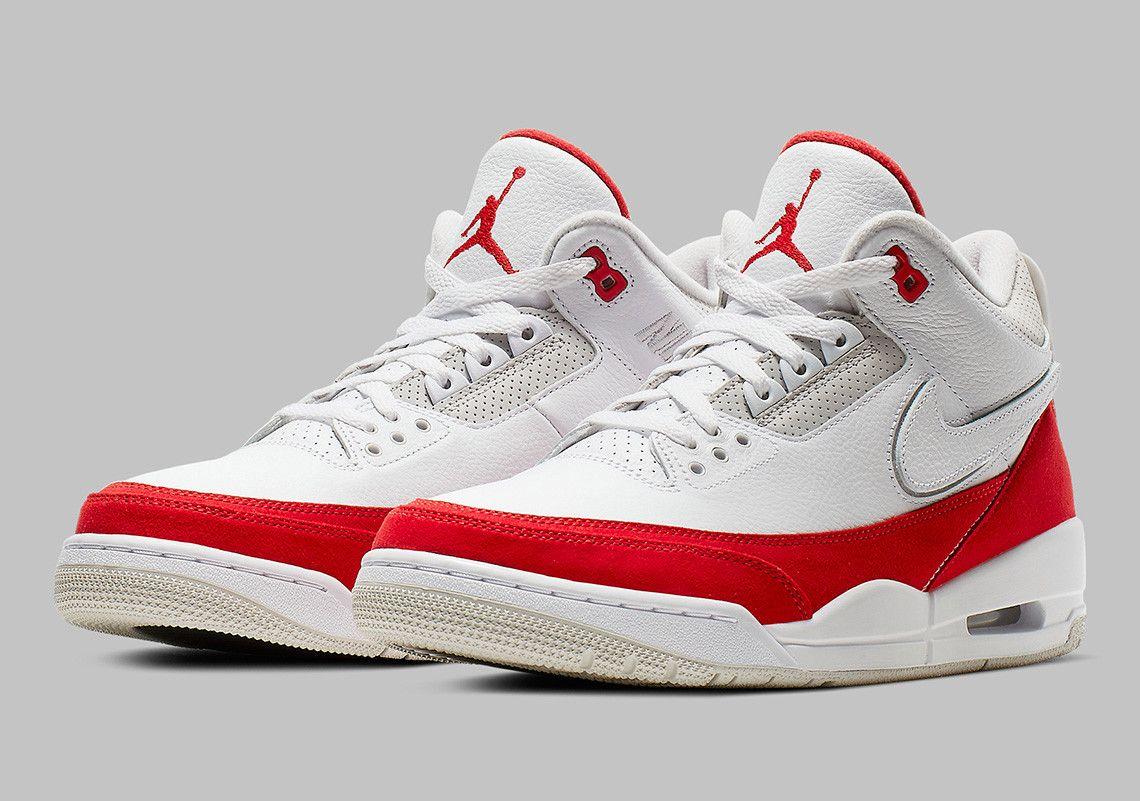 reputable site 7651c 9fc3d Air Jordan 3 Tinker CJ0939-100 White University Red Release Date  thatdope   sneakers  luxury  dope  fashion  trending
