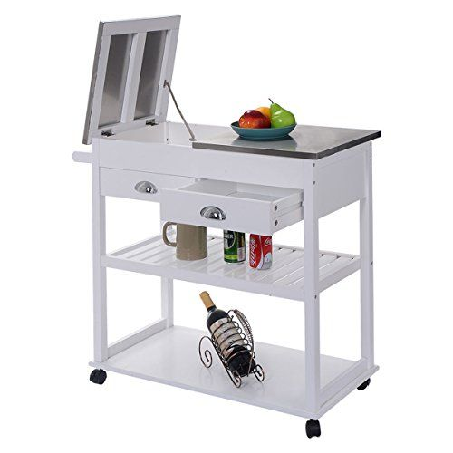 Eminentshop Rolling Kitchen Trolley Cart Stainless Steel Https Www Amazon Com Dp B01n2l0dow R Kitchen Trolley Kitchen Roll