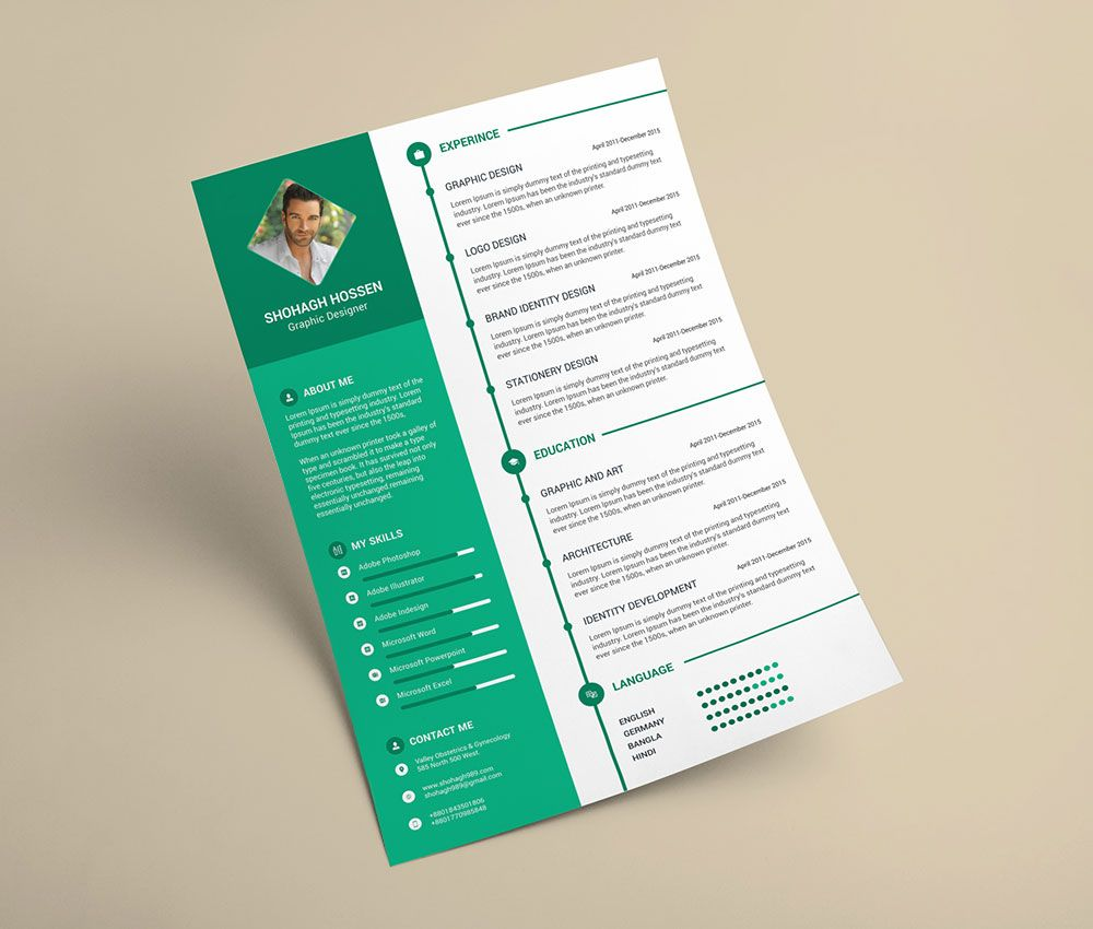 Free-Clean-Resume-Design-Template-in-PSD-Format-(2) | Resume PSD ...