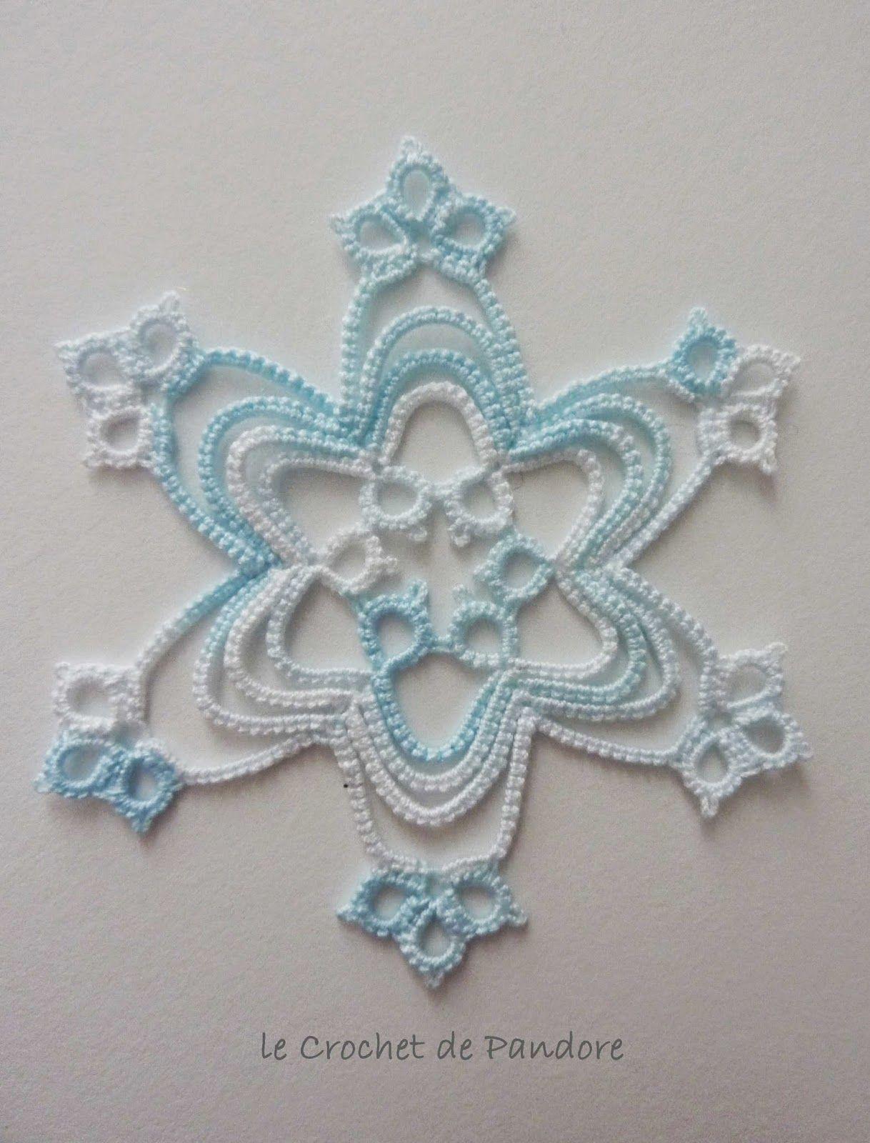 les Frivolités de Pandore: Flocon Ice Blue (Ice Blue Snowflake)