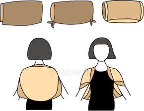 t cher und schals binden abendgarderobe der bolero mode pinterest schal binden. Black Bedroom Furniture Sets. Home Design Ideas