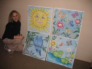 Murals Painted On Ceiling Tiles Ceiling Tiles Art Ceiling Tiles Painted School Ceiling Tiles