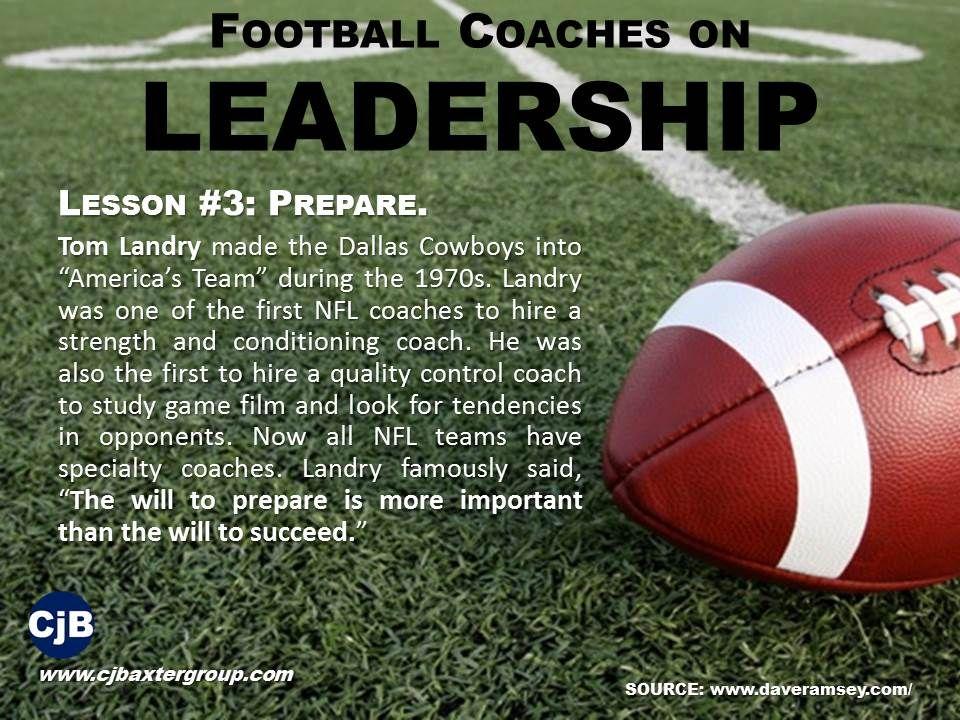 Lesson 3 Prepare Tom Landry Made The Dallas Cowboys Into