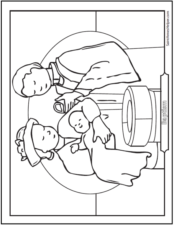 baptism coloring pages for children - photo#20