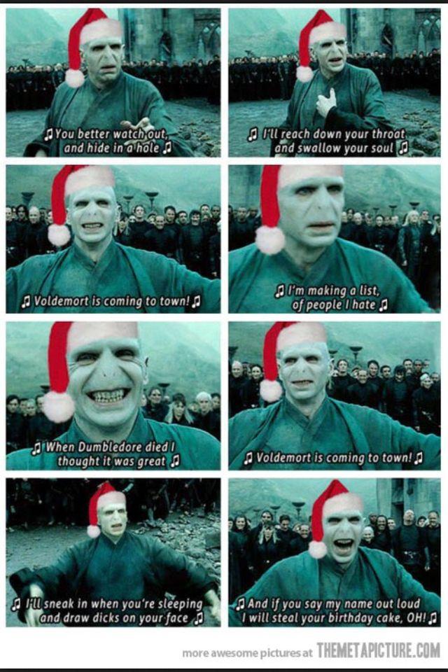 Voldemort Christmas Carol Harry Potter Memes Hilarious Harry Potter Puns Harry Potter Song