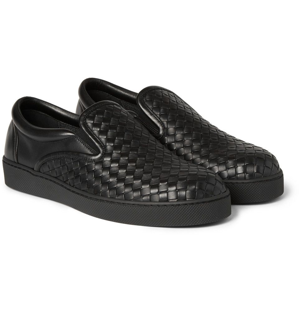 e4ae9bc4909d2 Bottega Veneta - Intrecciato Leather Slip-On Sneakers | MR PORTER ...