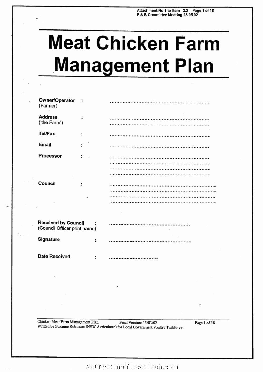 Farm Business Plan Template Unique 6 New Basic Farm