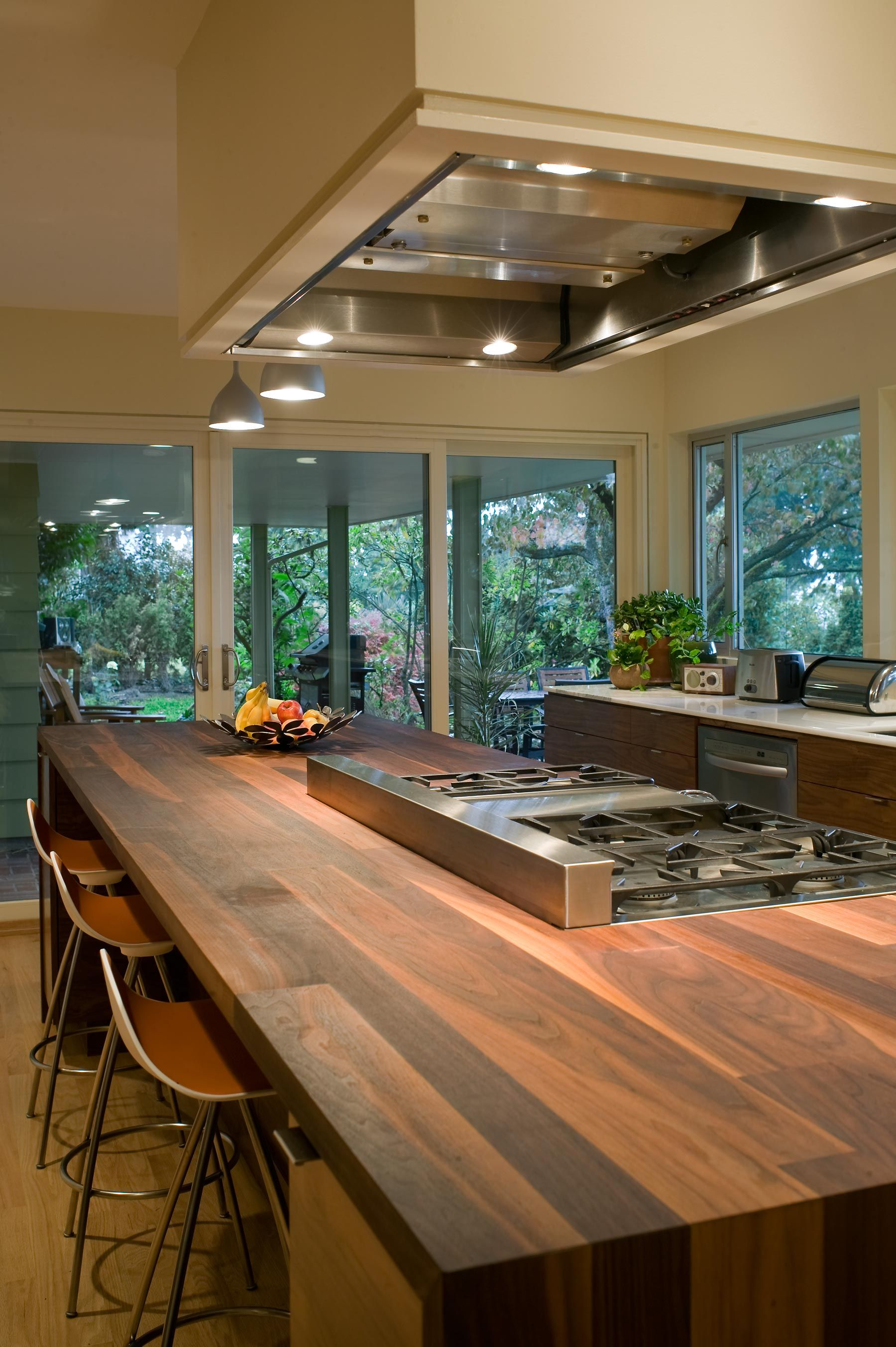 a h h kitchen remodel with a wooden countertop island designed by scott edwards architecture on kitchen remodel appliances id=27182