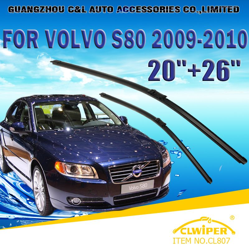 Wiper Blades For Volvo S80 2006 2007 2008 2009 2010 2011 12 2013 Car Windscreen Windshield Wiper Blade 20 26 Cars Accessorie Volvo S80 Volvo Car Accessories