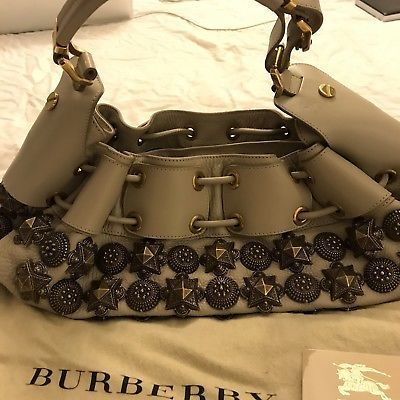 BURBERRY Prorsum Leather Mason Warrior Studded Hobo Black Bag. Perf ... 0d08a434eb17c