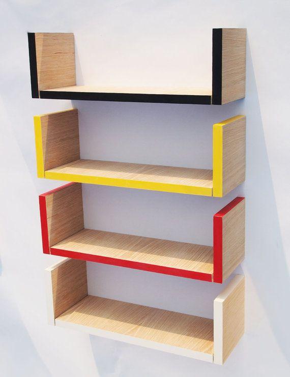 Small Hanging Bookshelf Black And Limed Oak By JensKosakDesign EUR3900