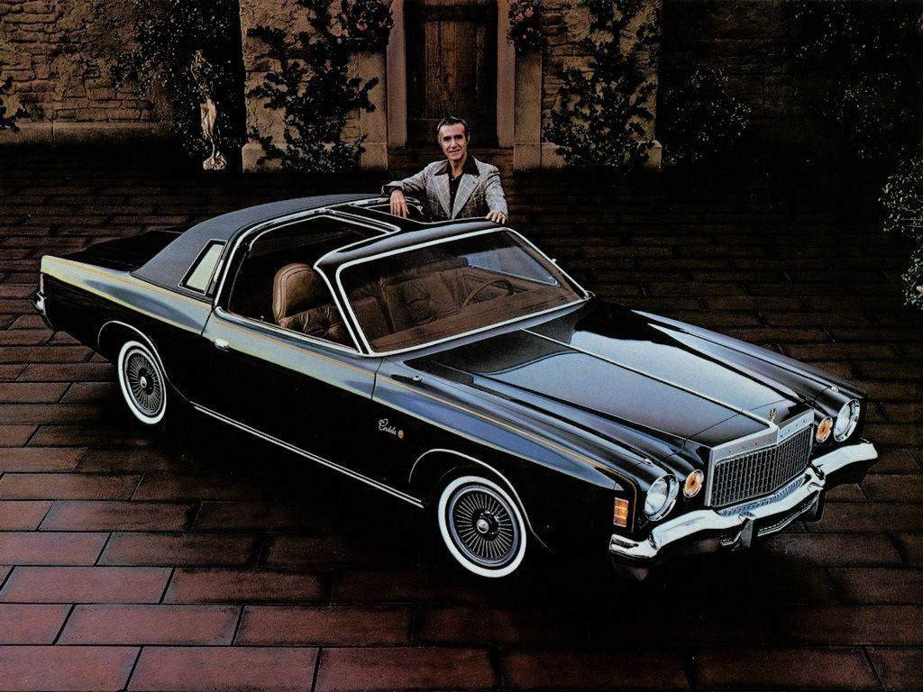 1977 Chrysler Cordoba. I believe that's Ricardo Montalban.