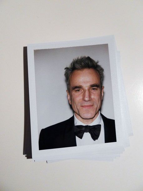 Shooting Film: Awesome Celebrity Polaroid Portraits from 2013 Golden Globes' Night - Daniel Day Lewis
