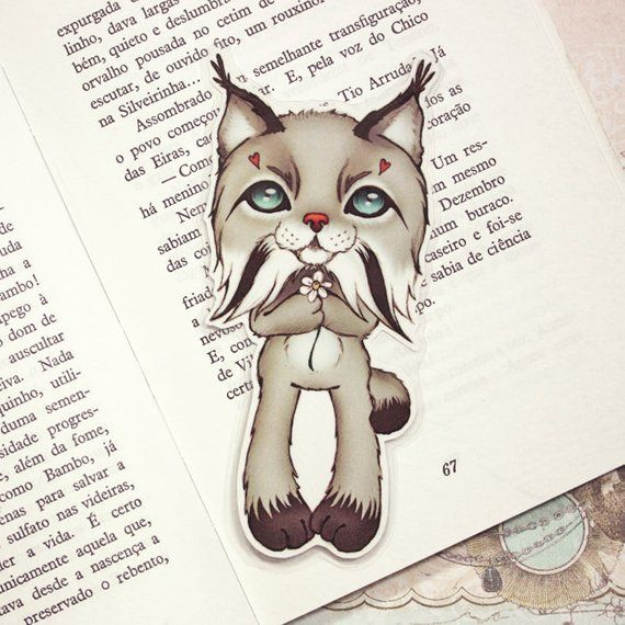 Lynx pocket size bookmark made to order nel 2019 segnalibri - Comment dessiner un lynx ...