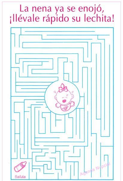 Juegos de baby shower Laberinto 2 | Juegos para baby ...