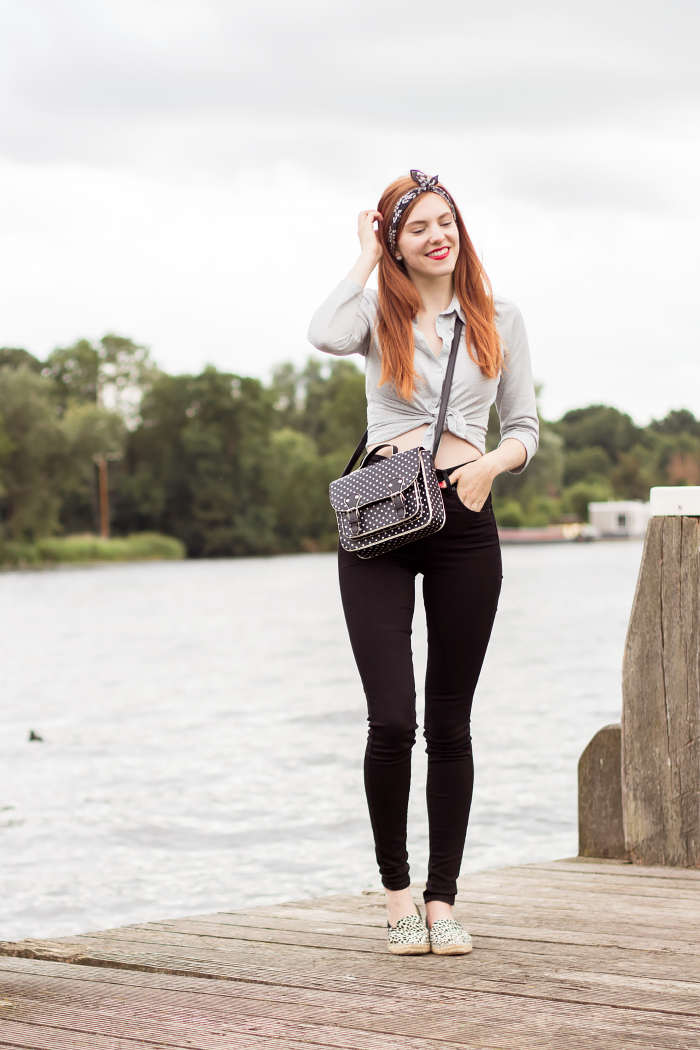 Casual Outfit Mile High Skinny Jeans Levi\u0027s Bandana Fashion Blogger  Amsterdam