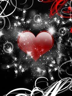 Red W Blk Hearts Romantic Wallpaper Heart Wallpaper Valentines Wallpaper