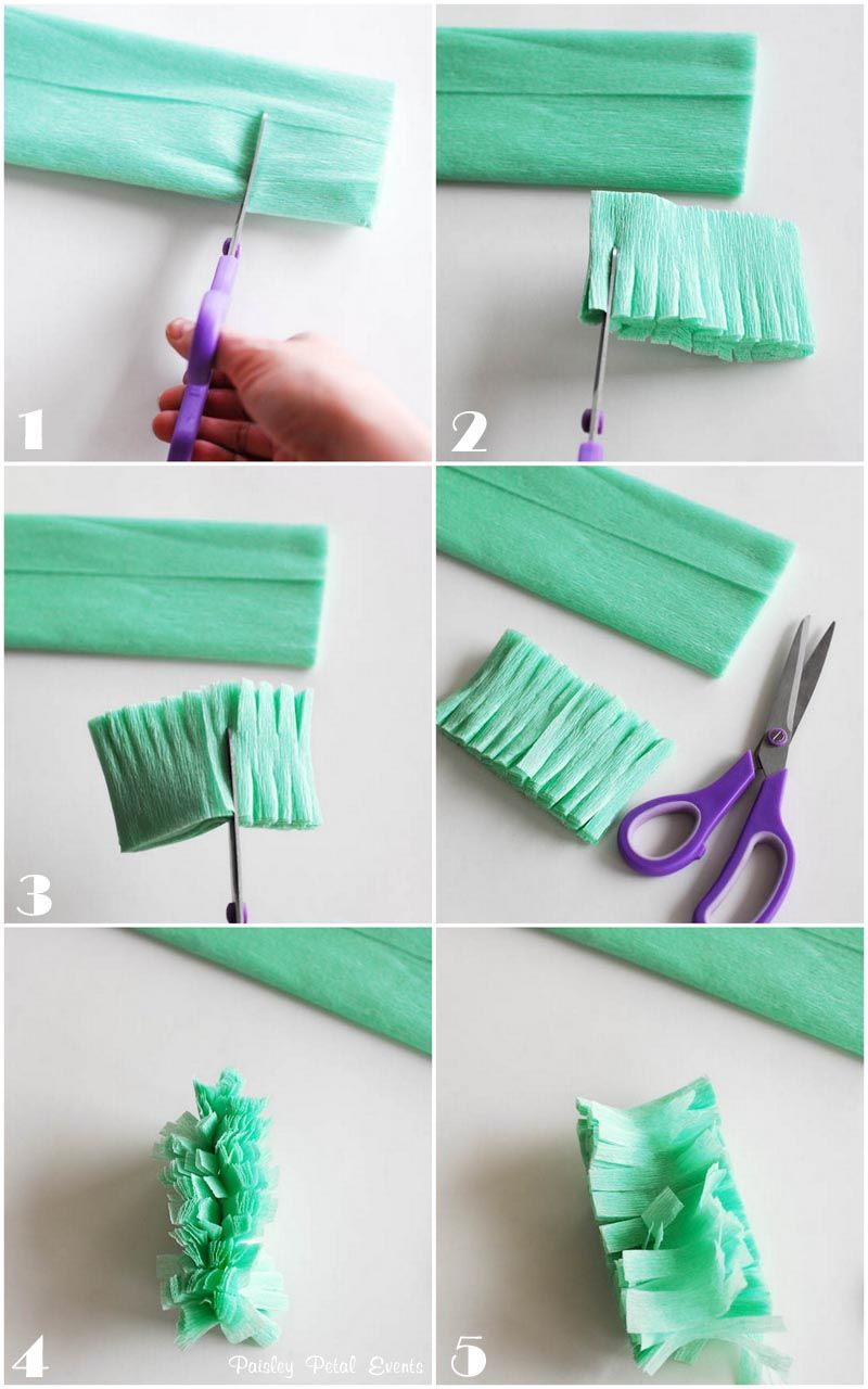 How To Fringe And Hang Crepe Paper Steamers Decor Crepe Paper