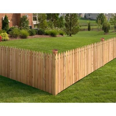Outdoor Essentials 5 8 In X 3 1 2 In X 3 1 2 Ft Western Red Cedar French Gothic Fence Picket 13 Pack 234628 The Home Depot Building A Fence Fence Design Outdoor Essentials
