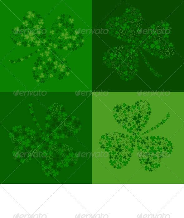 """Vector Green Seamless Background with Clover  #GraphicRiver         Seamless background for St. Patrick's Day with a green beautiful clover shamrock, made up of small clovers. EPS 8 plus high-quality Jpeg. No gradients, no transparency, no blends, no meshes.            More pictures on the theme of """"Holidays"""" for you:        Created: 8February13 GraphicsFilesIncluded: JPGImage #VectorEPS Layered: Yes MinimumAdobeCSVersion: CS Tags: adorable #background #card #cartoon #celebration #clover…"""