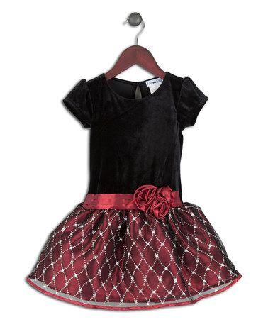 Another great find on #zulily! Black & Red Sequin Drop-Waist Dress - Toddler by Joe-Ella #zulilyfinds
