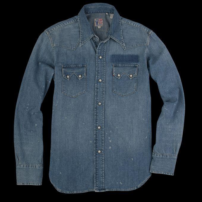 da8d61f2b5 UNIONMADE - Levi s Vintage Clothing - 1955 Sawtooth Denim Shirt in  Bullwhacker