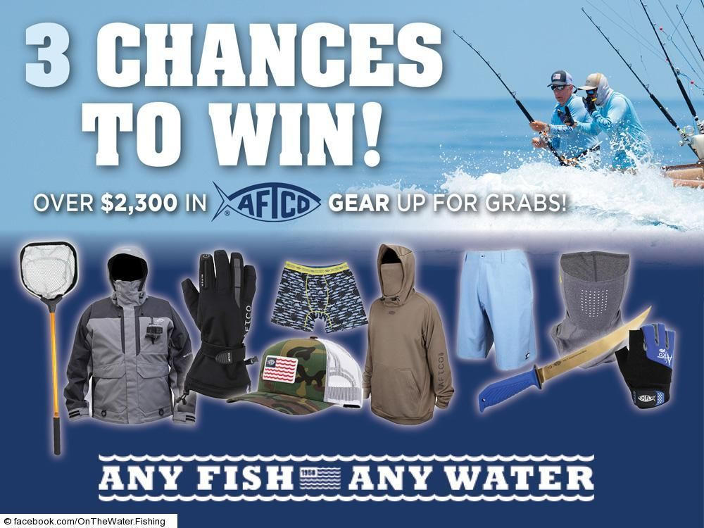 Win a complete headtotoe pro fishing kit! Three winners