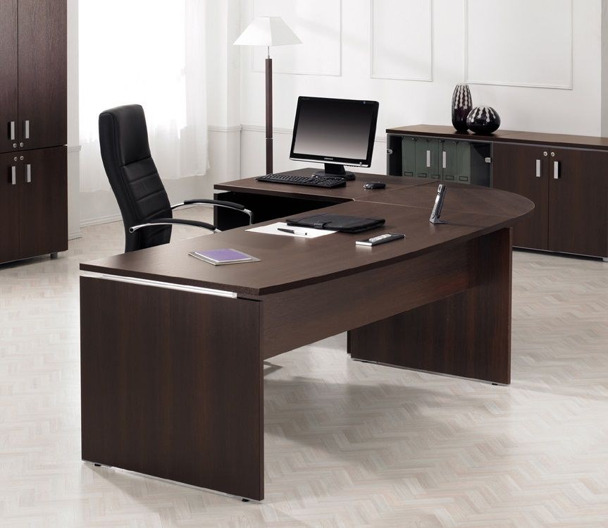 Executive office desk executive office pinterest for Table bureau design