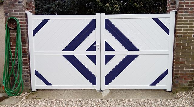 Portail Battant Sur Mesure En Aluminium Nao Met Afbeeldingen