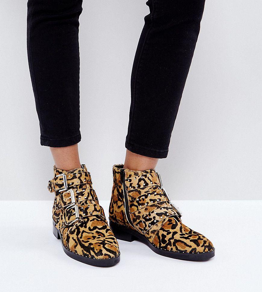 Asos Asher Nietenbesetzte Ankle Boots Aus Leder Mehrfarbig Jetzt Bestellen Unter Https Mode Lade Damen Cowboy Stiefel Knöchelhohe Stiefel Stiefeletten