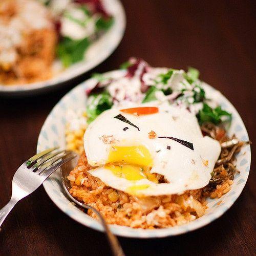 fried egg & rice