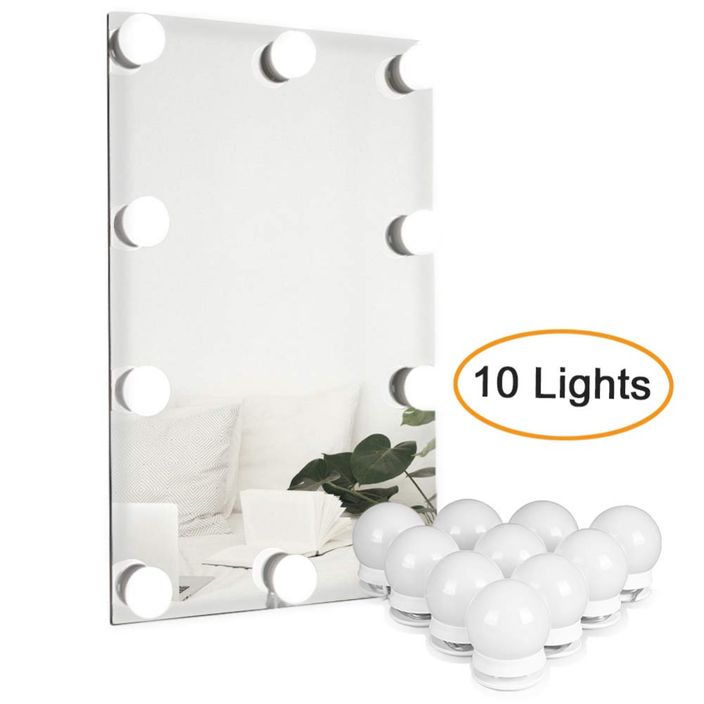 Waneway Vanity Lights For Mirror Diy Hollywood Lighted Makeup Vanity Mirror With Dimmable Lights Stic Mirror With Lights Led Mirror Makeup Mirror With Lights