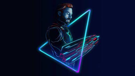 Neon Avengers 1920x1080 Desktop Wallpapers (based on