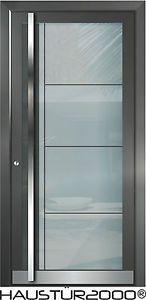 Haustür weiß mit glas  HAUSTÜR2000® Aluminium Haustür Glas Tür Haustüren nach Maß Mod. HT ...