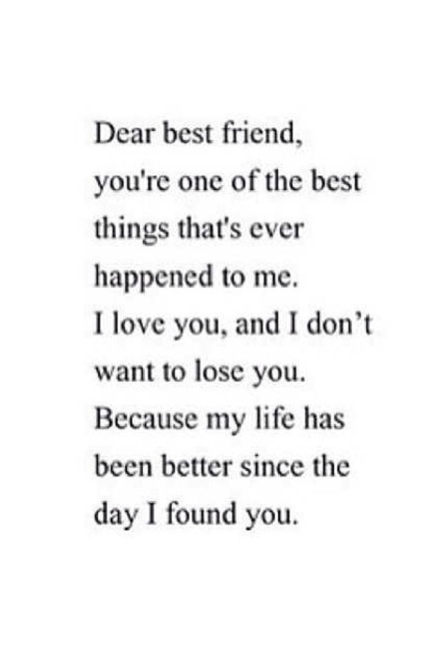 I love my best friend. She\'s the most beautiful girl I\'ve ...