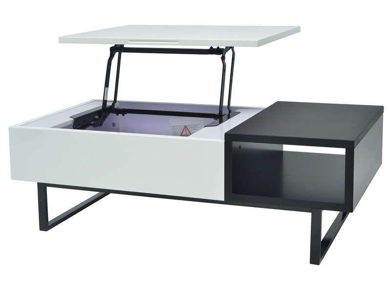 blancnoir THEO rectangulaire coloris cm basse Table 120 bfgY76y