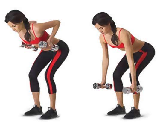 Mujer Haciendo Remo Con Mancuernas Ejercicios Para La Espalda Back Exercises Fitness Mujer Bikini Fitness Models