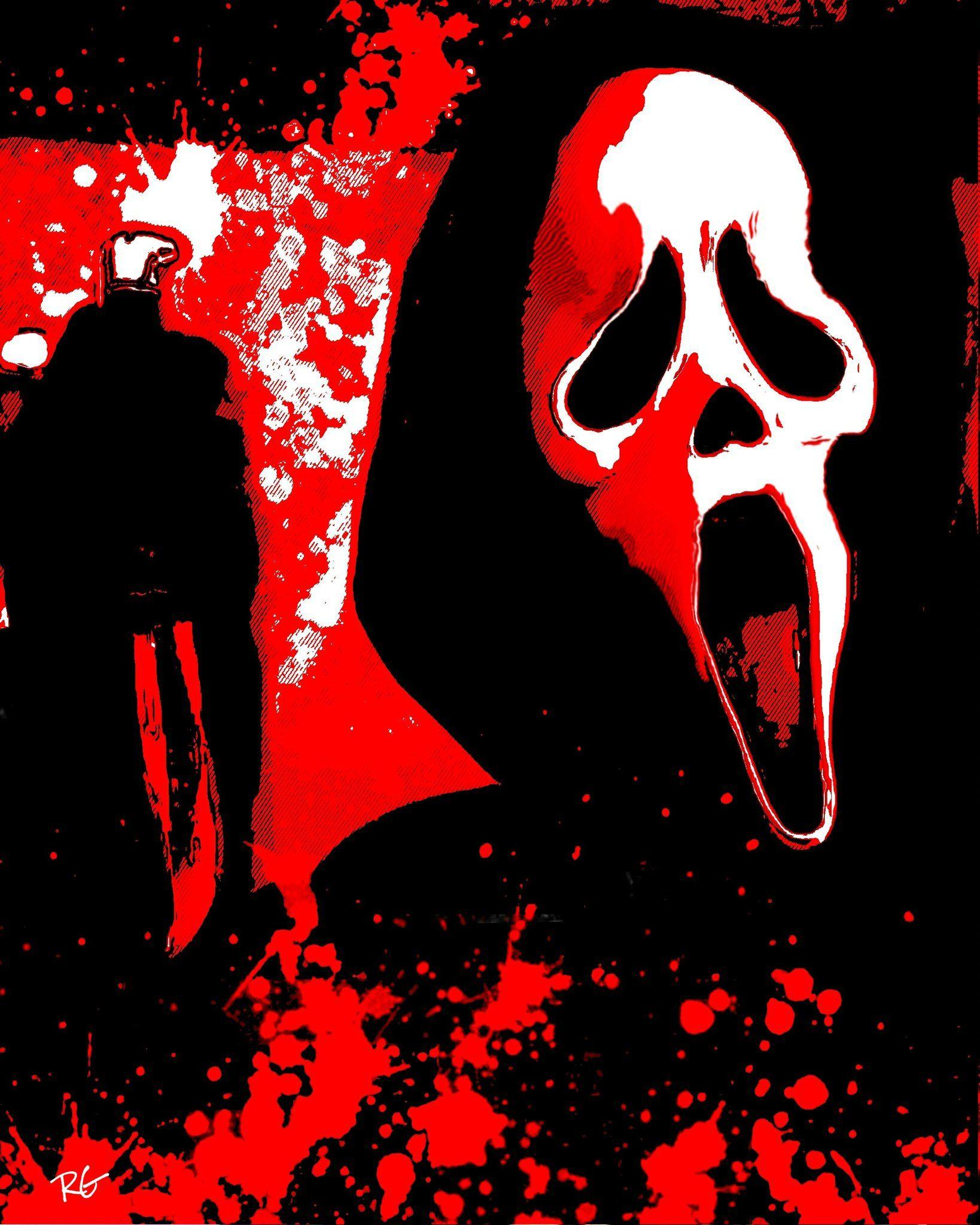 Scream Ghostface Horror Movie Wall Art Print Movie Wall Art Horror Movie Art Horror Art