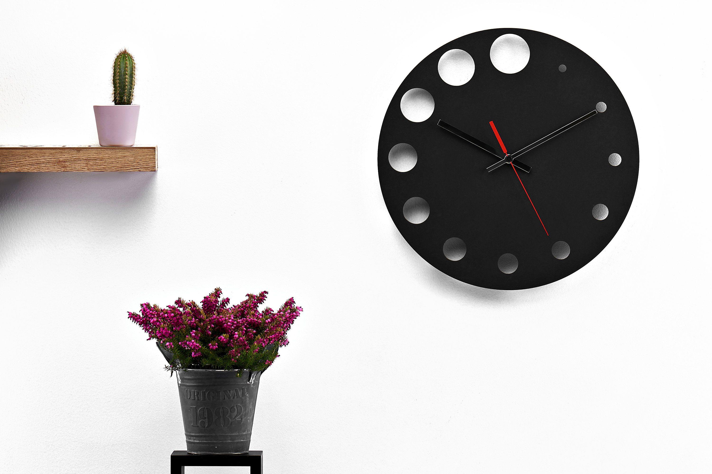 Rustic Black Wall Clock Modern Clocks For Unique Wall Clock Etsy Black Wall Clock Unique Wall Clocks Wall Clock Modern