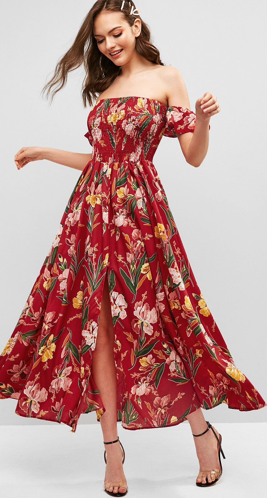 Blooming Summer Holiday Maxi Dresses Beach Sundress Holiday Maxi Dress Fancy Dresses Boho Style Dresses [ 1596 x 856 Pixel ]