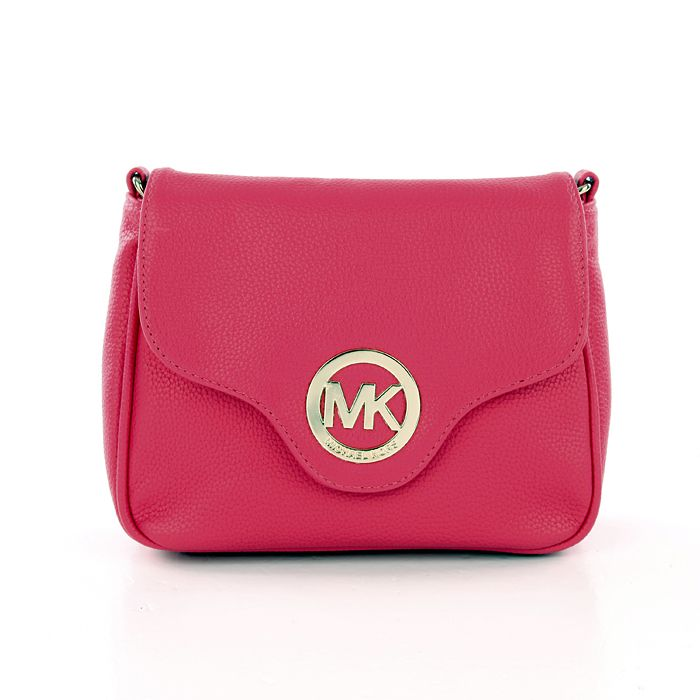 899aed1651349f Michael Kors Fulton Pebbled Large Pink Crossbody Bags | Crossbody ...