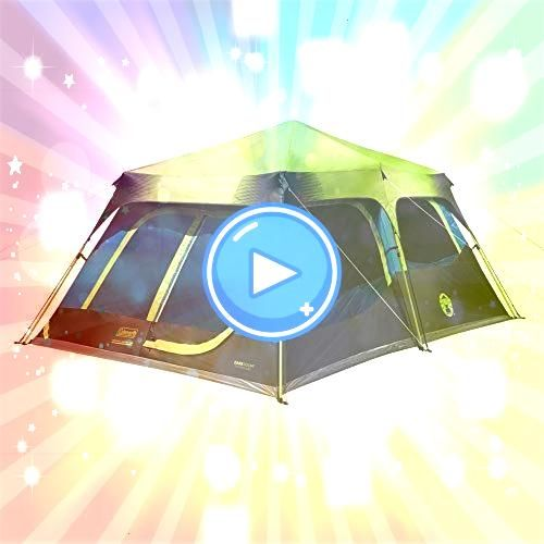 Cabin Tent with Instant Setup  Cabin Tent for Camping Sets Up in 60 Seconds Coleman 10person Dark Room Fast Pitch Cabin Tent Coleman Prairie Breeze 9 Person WeatherTec Ca...