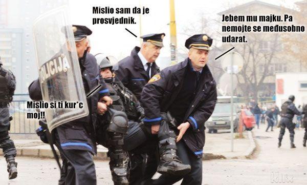 Policajci stradali u prosvjedima u Bosni…
