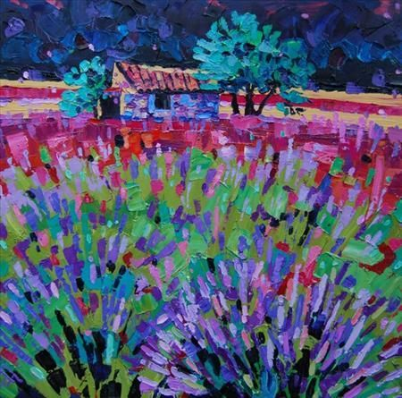 Provence Lavender field, French Scenes, Fiona Forbes, SAA Professional Members' Galleries