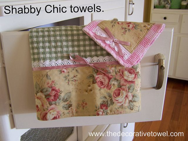 Shabby Chic Roses A Decorative Kitchen Towel Set Shabby Chic Towels Decorative Kitchen Towels Shabby Chic